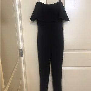 Pants - Black Off The Shoulder Jumpsuit